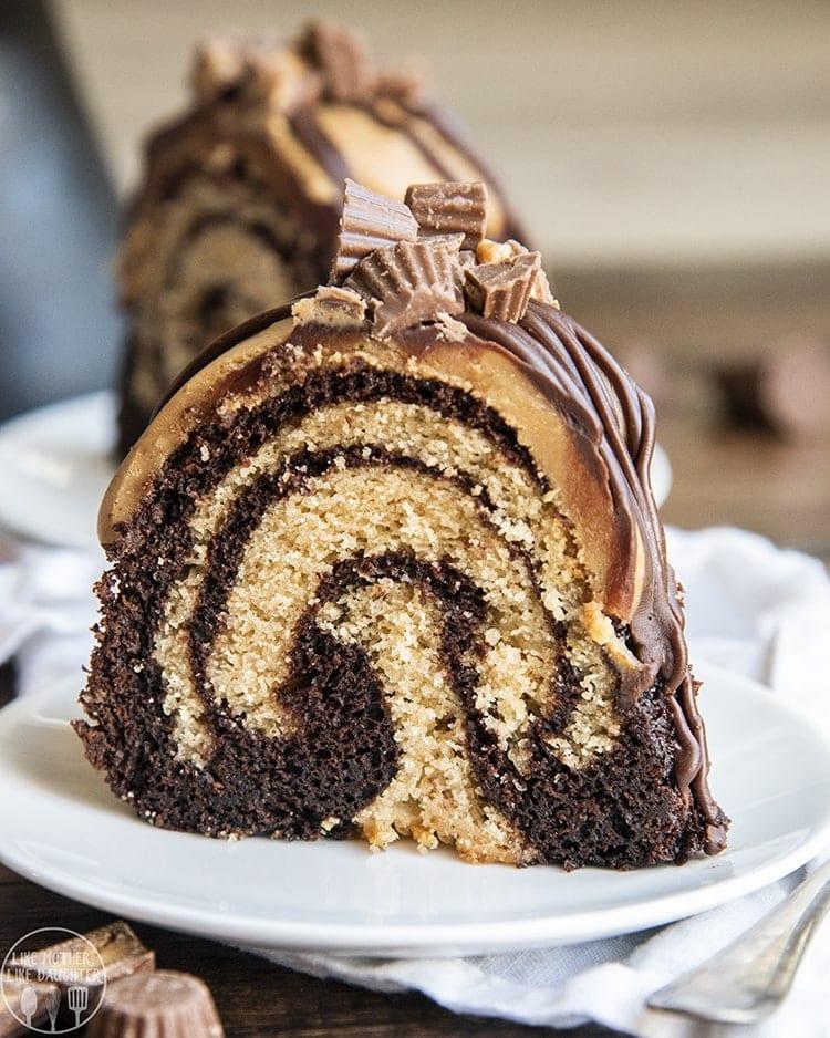 Chocolate Peanut Butter Bundt Cake Recipe