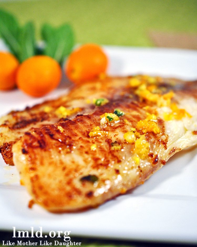 Tilapia with Citrus Butter