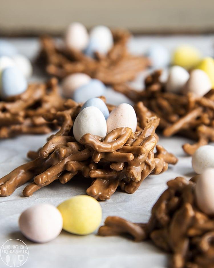 Bird Nest Cookies - Easter Egg Cookies