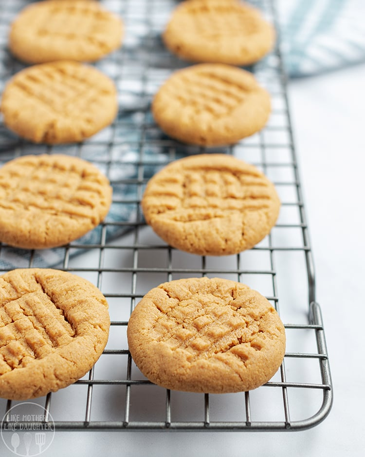 Flour Free Peanut Butter Cookies