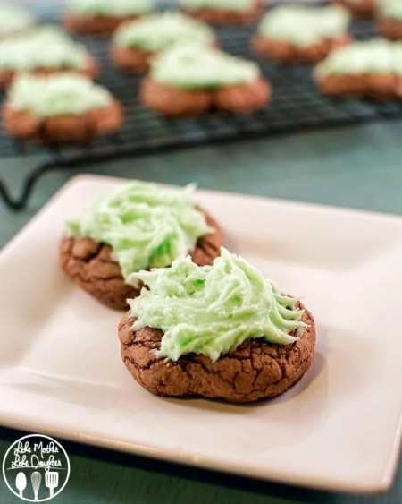 mint brownie cookies2