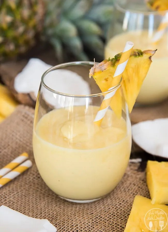 Piña colada smoothie is a perfect refreshing combination of pineapple and coconut that you can enjoy all day long.