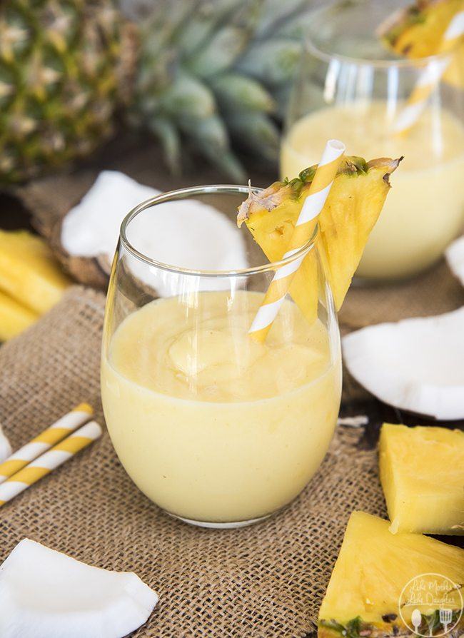 Pina Colada Smoothie - This delicious smoothie is a perfect refreshing combination of pineapple and coconut that you can enjoy all year long.