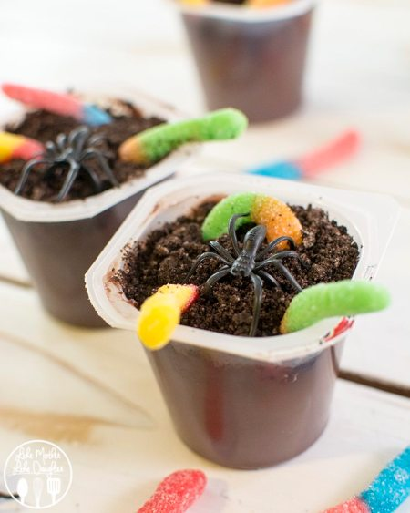 creepy crawly pudding