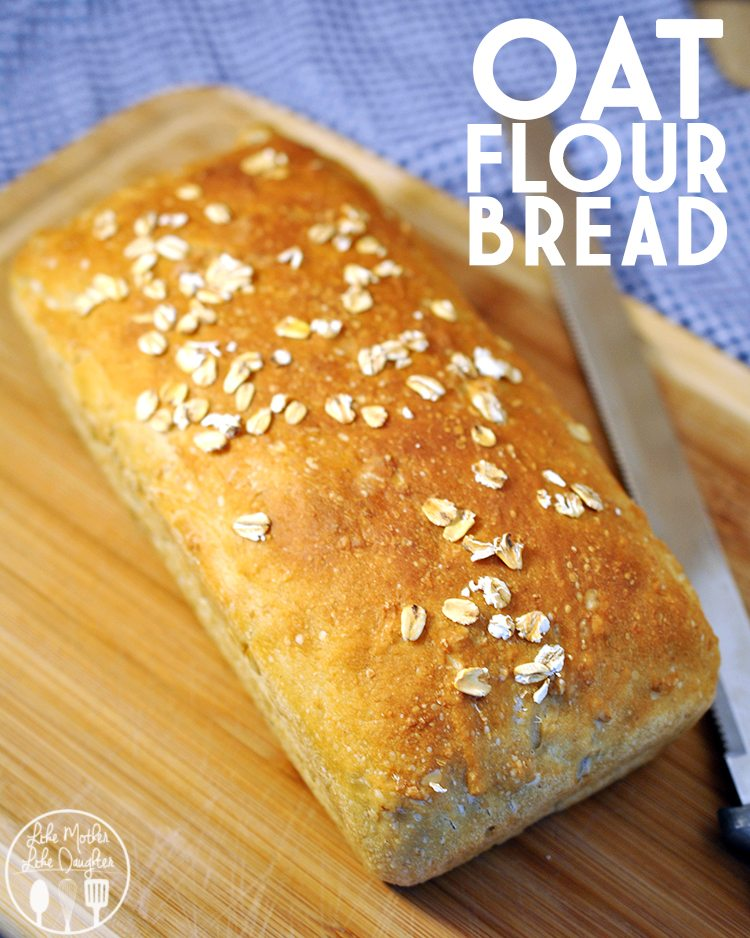 Whole oats and ground oats are baked into this amazing oat flour bread. Delicious fresh baked drizzled with honey and butter or enjoy in a sandwich for lunch.