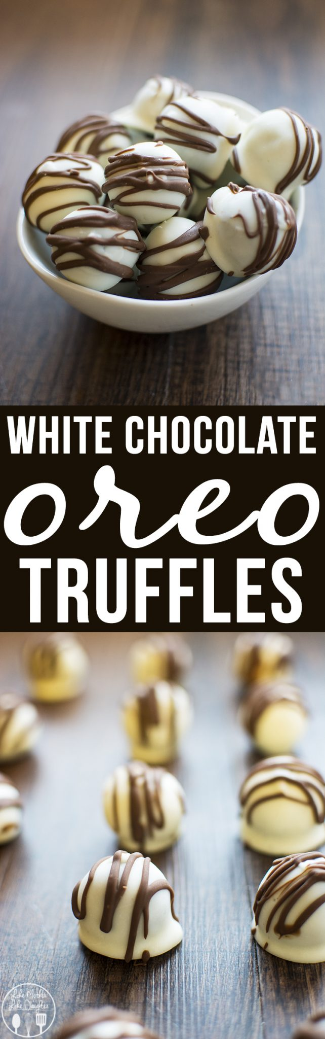 White Chocolate Oreo Truffles - These oreo truffles are a delicious and simple no bake treat with only 3 ingredients, that taste like little bites of cookies and cream!