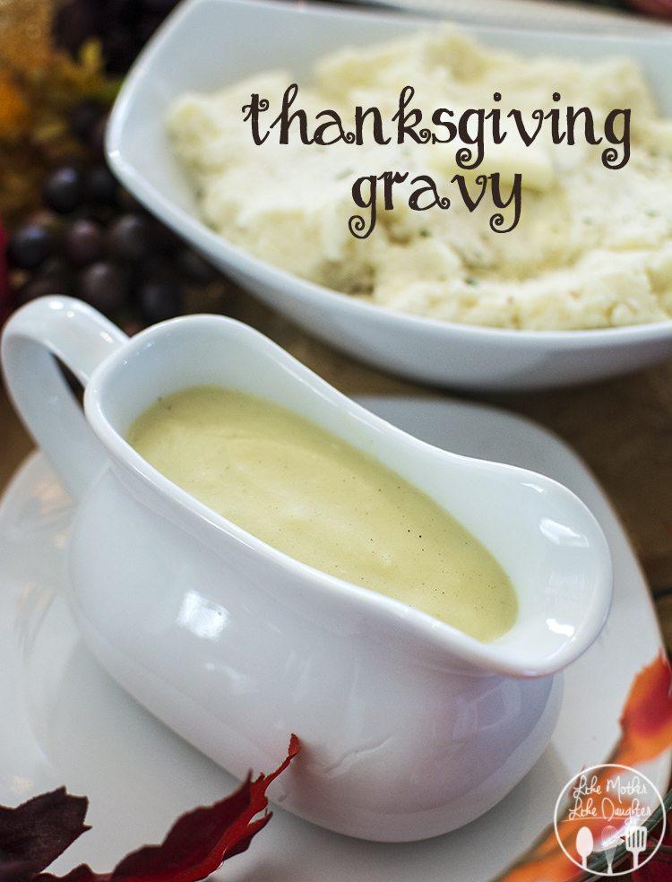 Thanksgiving Gravy Like Mother Like Daughter