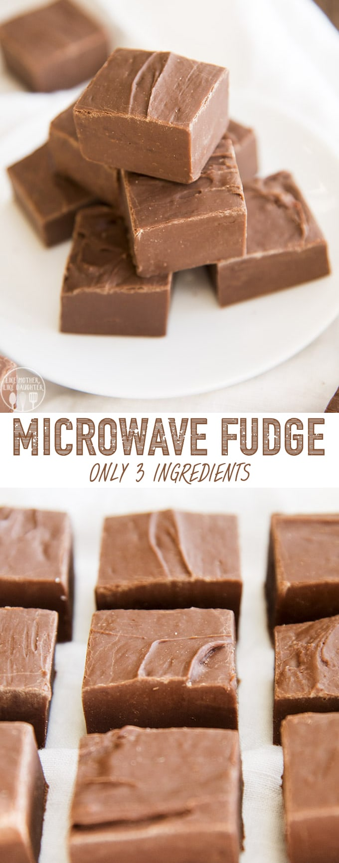 Microwave Fudge is the perfect homemade candy for beginners and experts alike, with only 3 ingredients, no thermometer, you get an easy and delicious rich chocolate fudge!