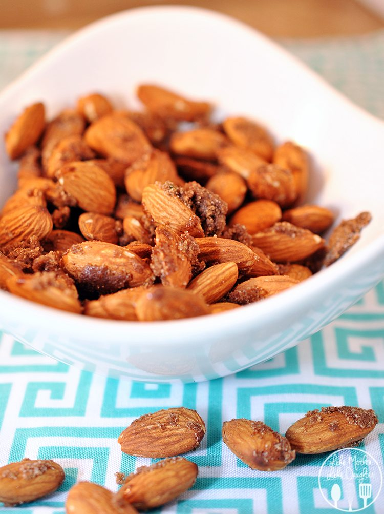Cinnamon Sugar and Thyme Almonds - These sweet and savory almonds are a great snack or a perfect salad topper.