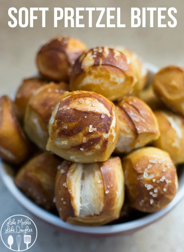 Soft Pretzel Bites - These chewy and salty soft pretzel bites are ready in under an hour and you'll never have to go to the mall to enjoy them again. A perfect snack!