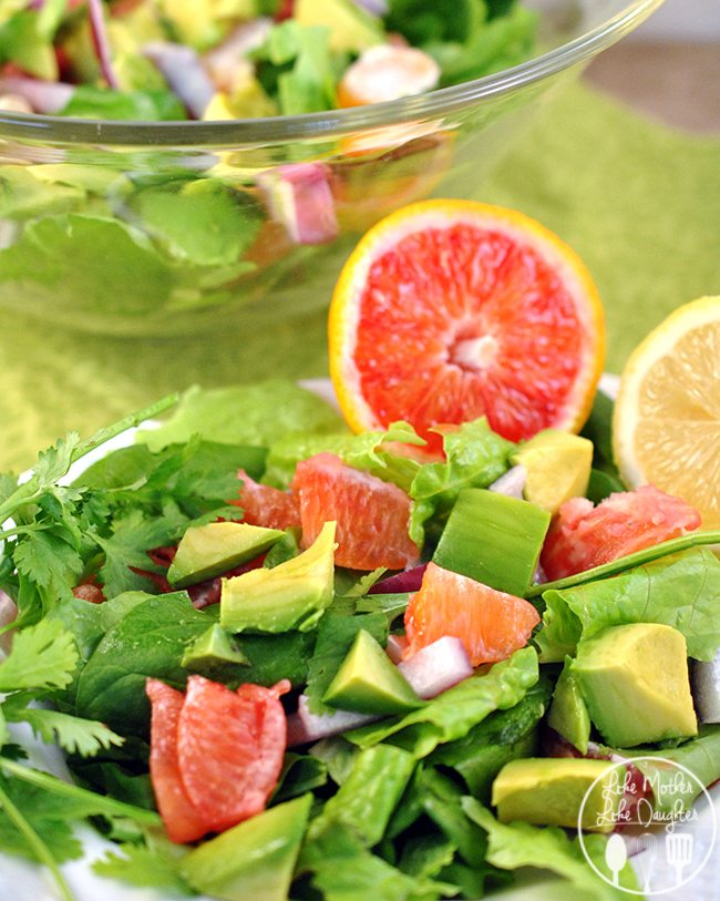 Avocado Citrus Salad - This avocado citrus salad is a perfect healthy, refreshing salad that has the perfect flavors of spring!