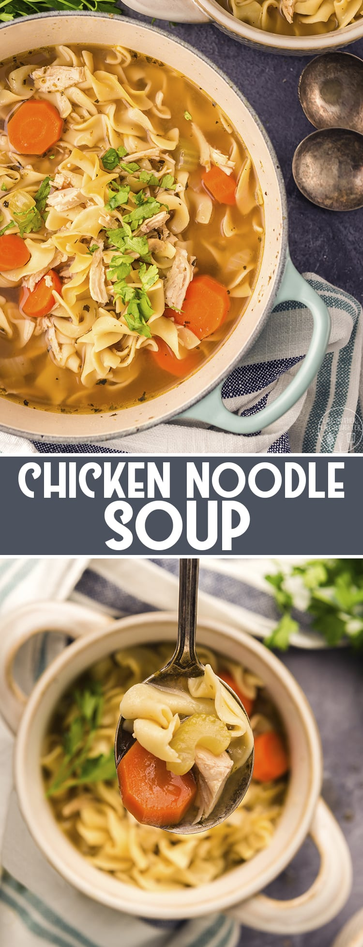This chicken noodle soup is packed full of fresh and healthy ingredients. It's so easy to make, and has so much delicious flavor. It's the perfect bowl of comfort!
