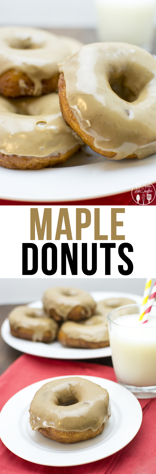 Maple Donuts - have delicious maple donuts at home with this easy recipe using canned biscuits and a delicious maple glaze!