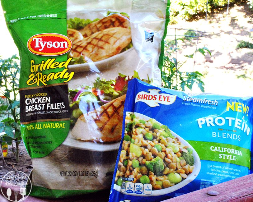 Tyson and Birds Eye team up together to make my busy day effortless and delicious with grilled chicken lettuce wraps