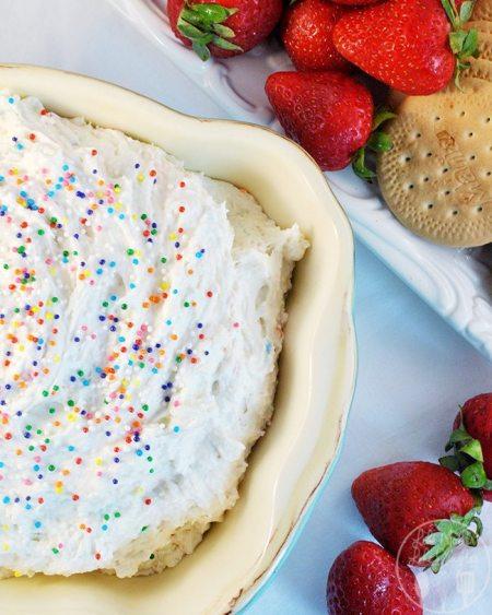 funfetti cake batter dip 1