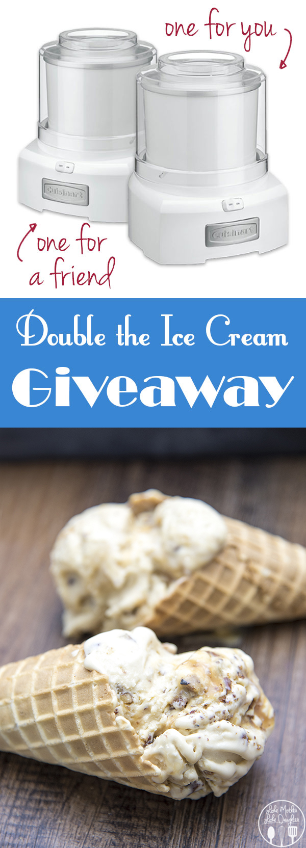 Salted Caramel Pecan Ice Cream and a giveaway! Win an ice cream maker for you and a friend!
