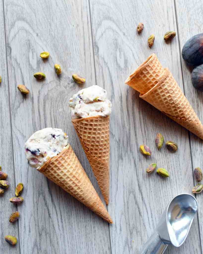 Fig Pistachio Ice Cream is creamy with the sweet flavor of figs and the salty of pistachio in every bite giving your mouth a taste of ice cream heaven.