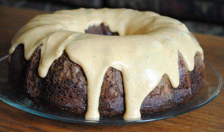 Chocolate Pumpkin Spice Bundt Cake