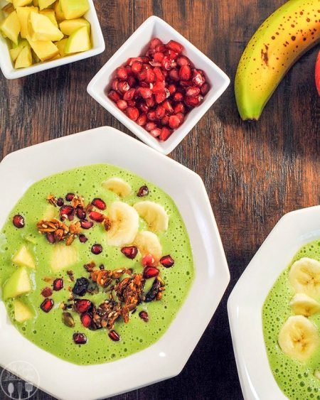 green apple smoothie bowl 1