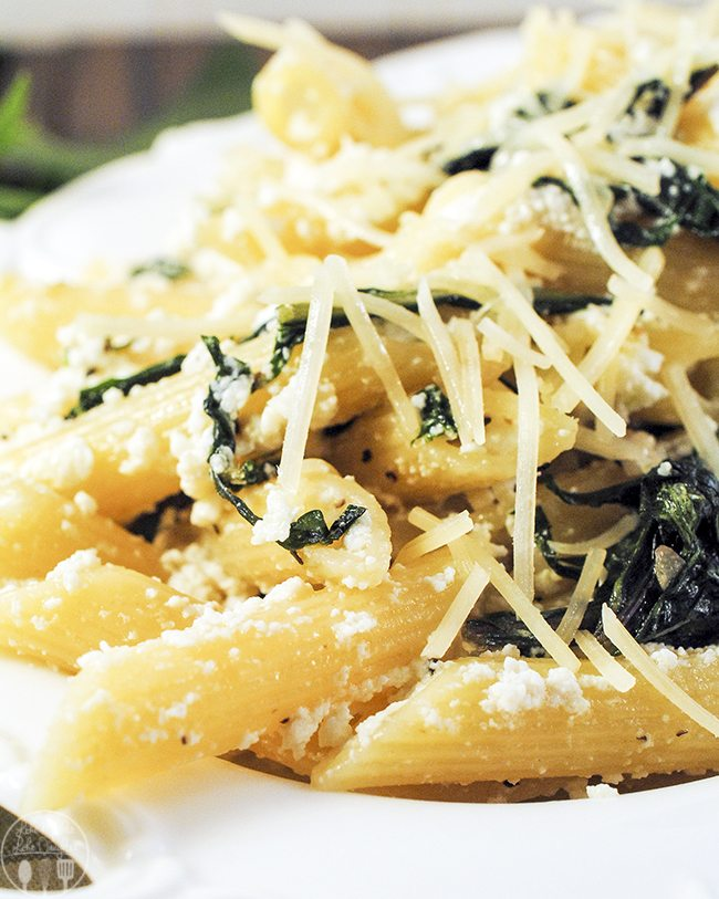 penne pasta with dandelion greens 2