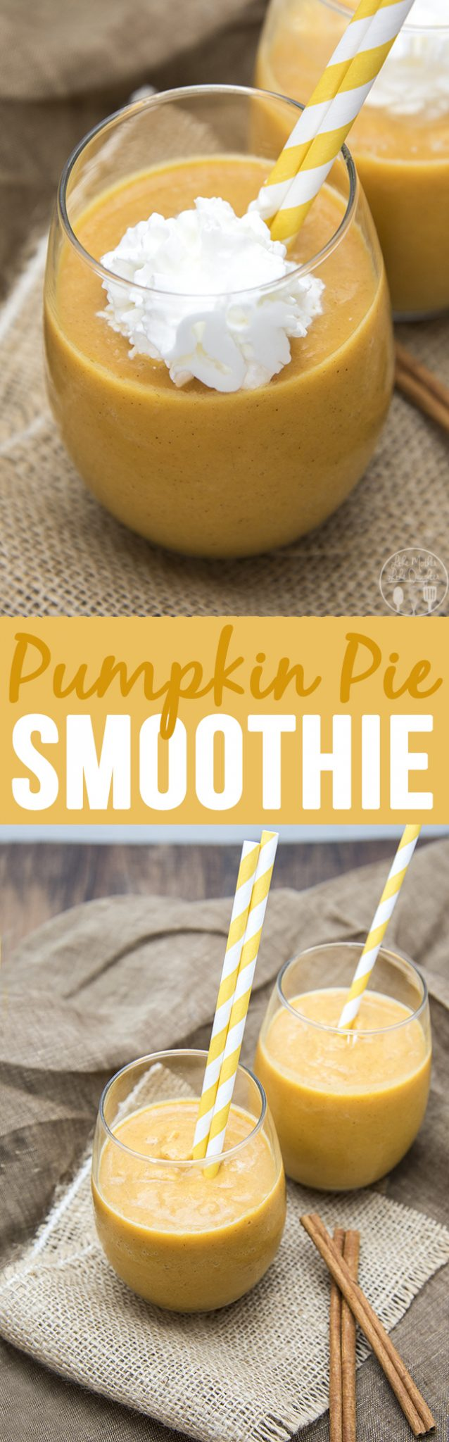 Pumpkin Pie Smoothie - This creamy and silky smoothie tastes just like a slice of pumpkin pie, in smoothie form!