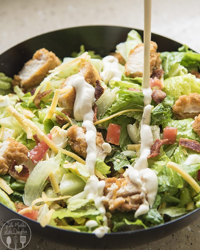 Cobb salad with crispy chicken
