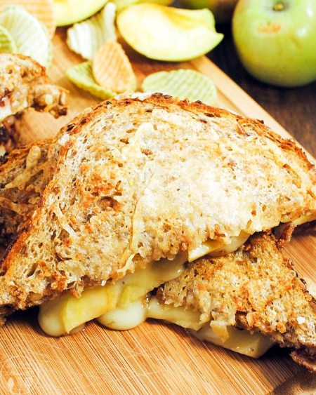 three cheese panini with apples and fig jam 1