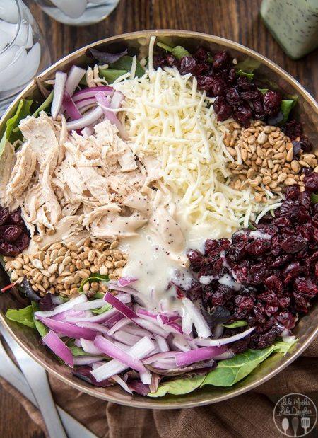 chicken cranberry and sunflower salad 5