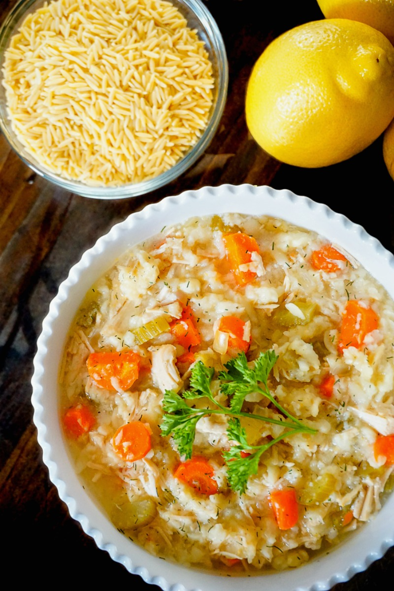 Lemon Chicken Orzo Soup - Food Holiday Bloggers