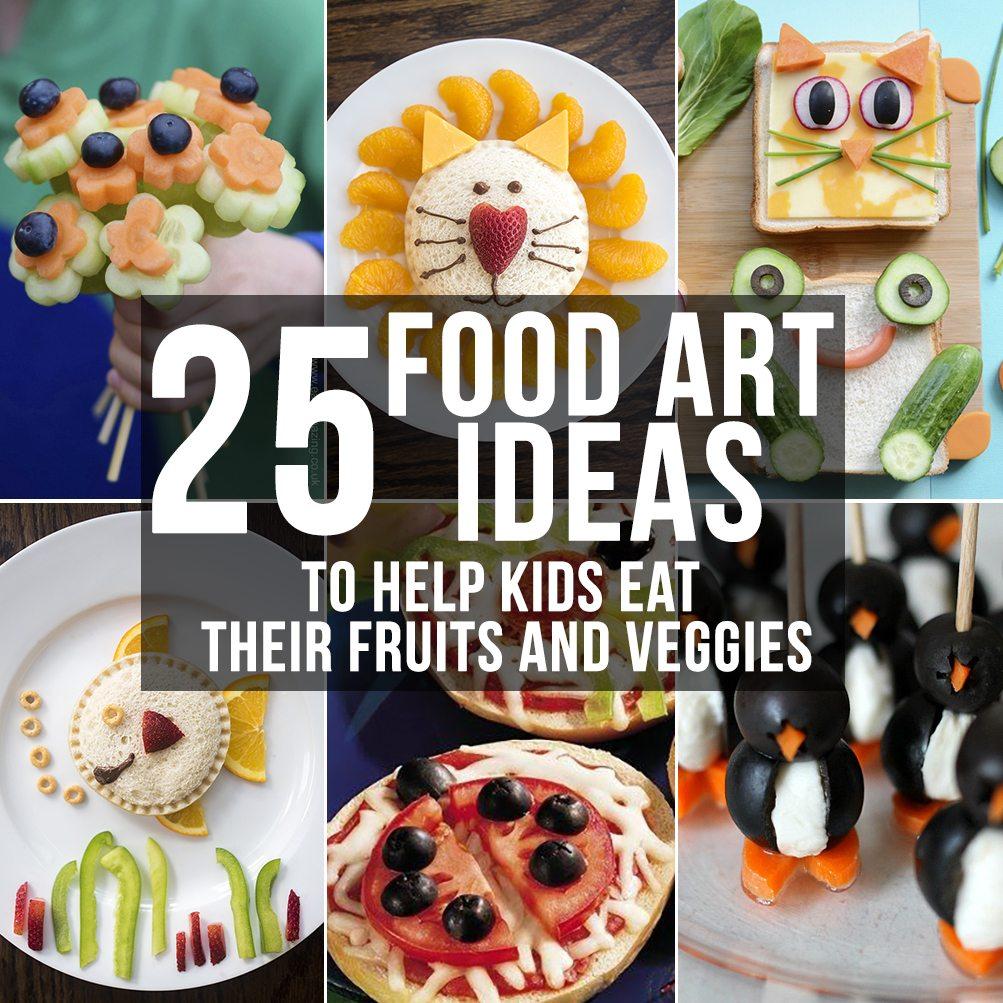 food art collage square
