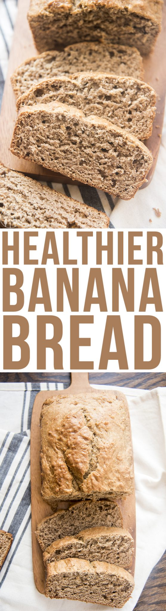 Healthier Banana Bread - This delicious banana bread is perfectly moist, packed full of flavor and made healthier with coconut oil, greek yogurt, andSPLENDA® Brown Sugar Blend.