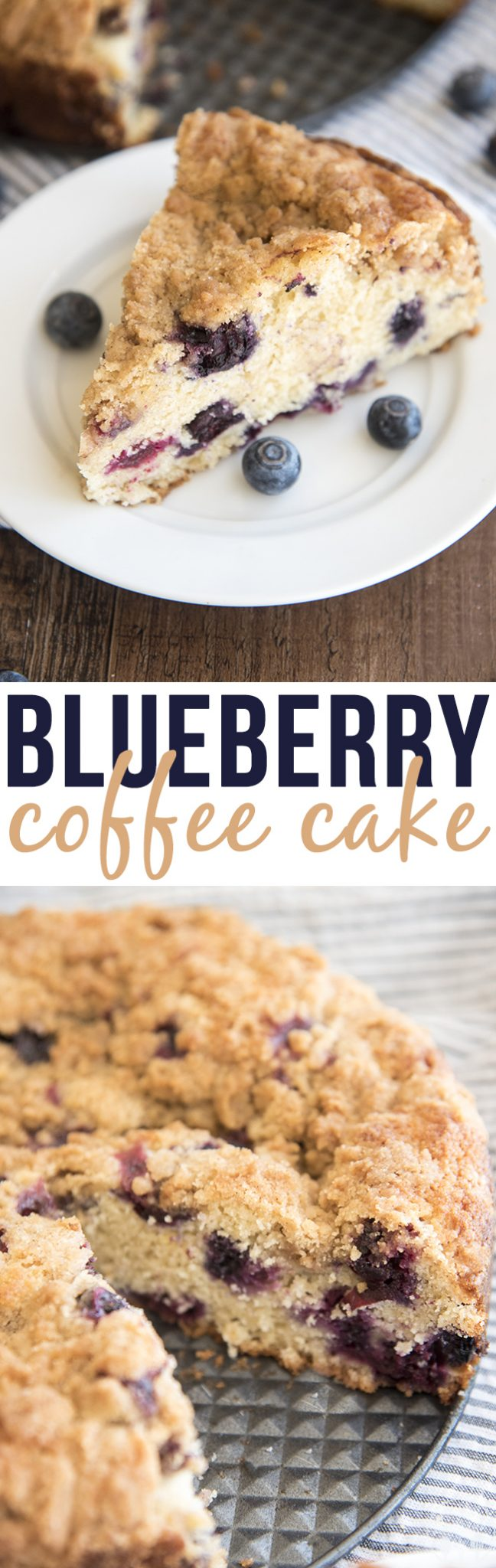 Blueberry Coffee Cake - This blueberry coffee cake is soft, sweet and loaded full of blueberries topped with the the best cinnamon sugary streusel crumble on top!