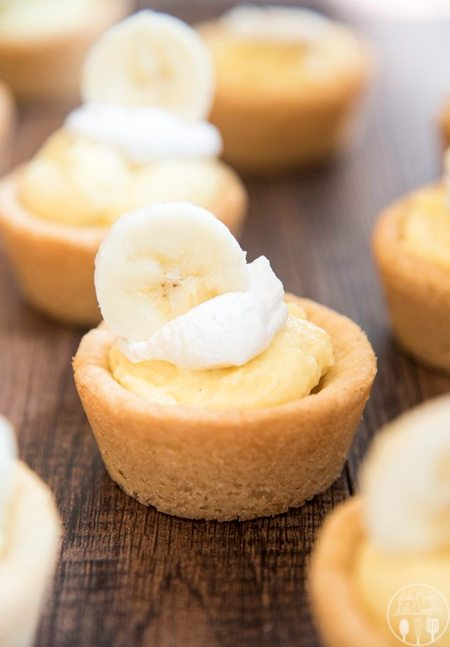 banana cream pie cookie cups 6