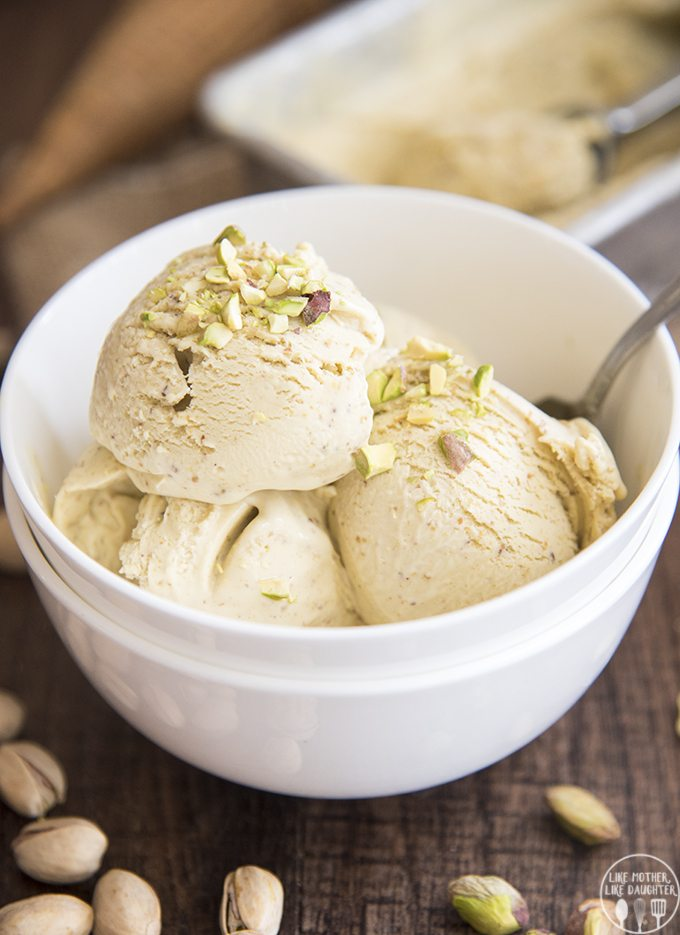 Pistachio Ice Cream - This is the best pistachio ice cream recipe ever! It's thick, creamy, smooth, flavorful and so delicious