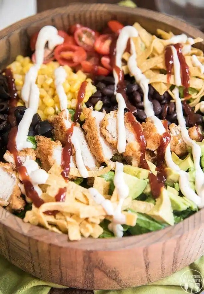 bbq ranch chicken salad 3