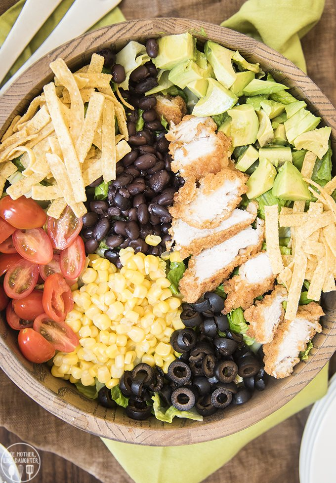 bbq ranch chicken salad 4