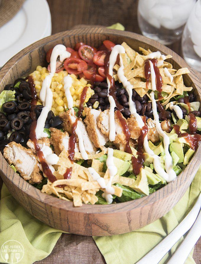 bbq ranch chicken salad 6