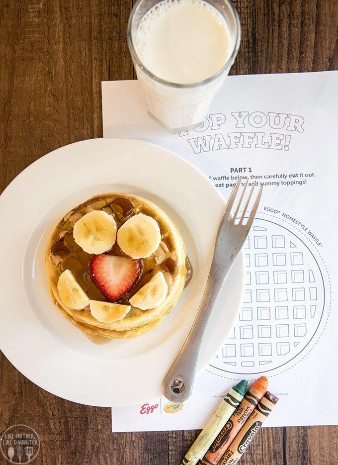 strawberry banana waffles 3