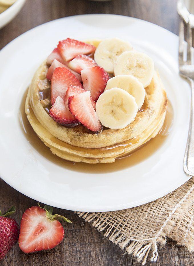 strawberry banana waffles 4