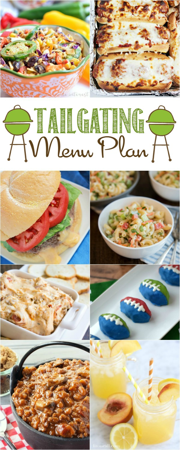 Tailgating Party Menu Plan HERO