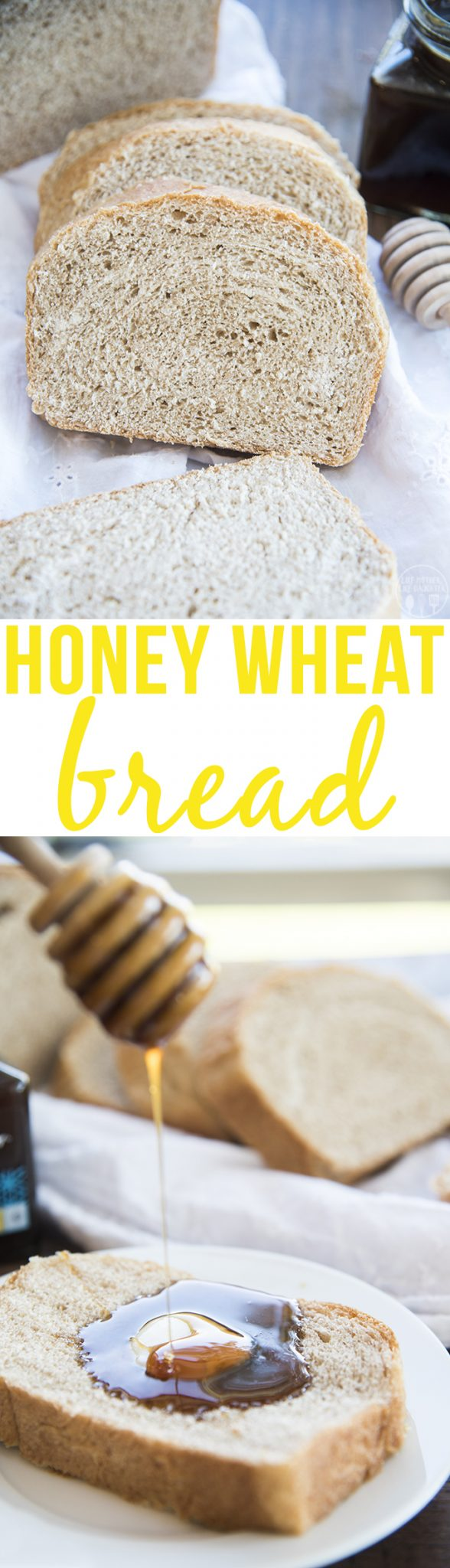 Honey Wheat Bread - This bread is perfectly thick, chewy, soft, and lightly sweetened. It tastes great on its own, or with extra butter and honey on top!
