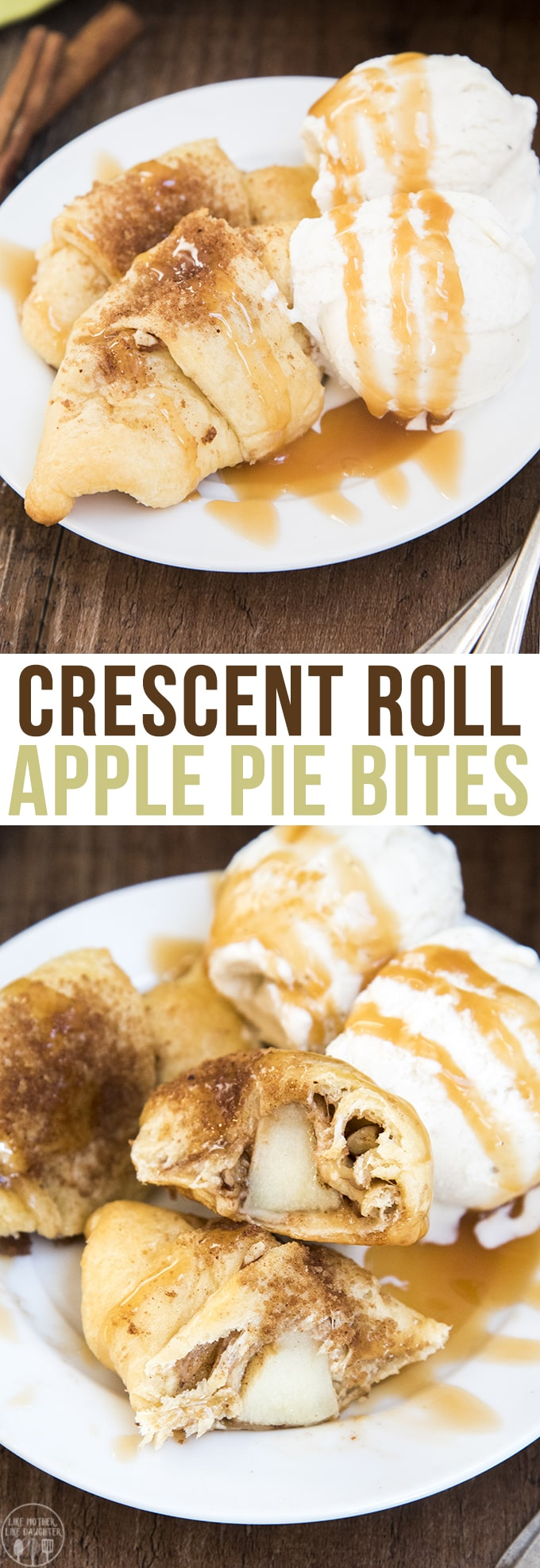 Apple Pie Bites - These crescent roll apple pie bites are so much easier than apple pie with the same great flavors. These tasty apple pie bites are made with Pillsbury Crescent Rolls and ready in less than 30 minutes!
