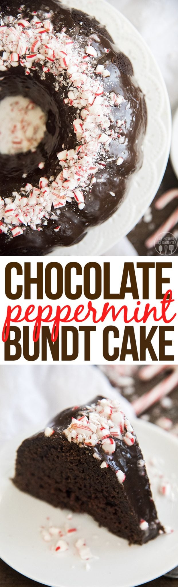 Peppermint Chocolate bundt cake is the best holiday cake! Its moist, sweet, and rich with the perfect blend of chocolate and peppermint throughout, and topped with crunchy candy cane pieces!