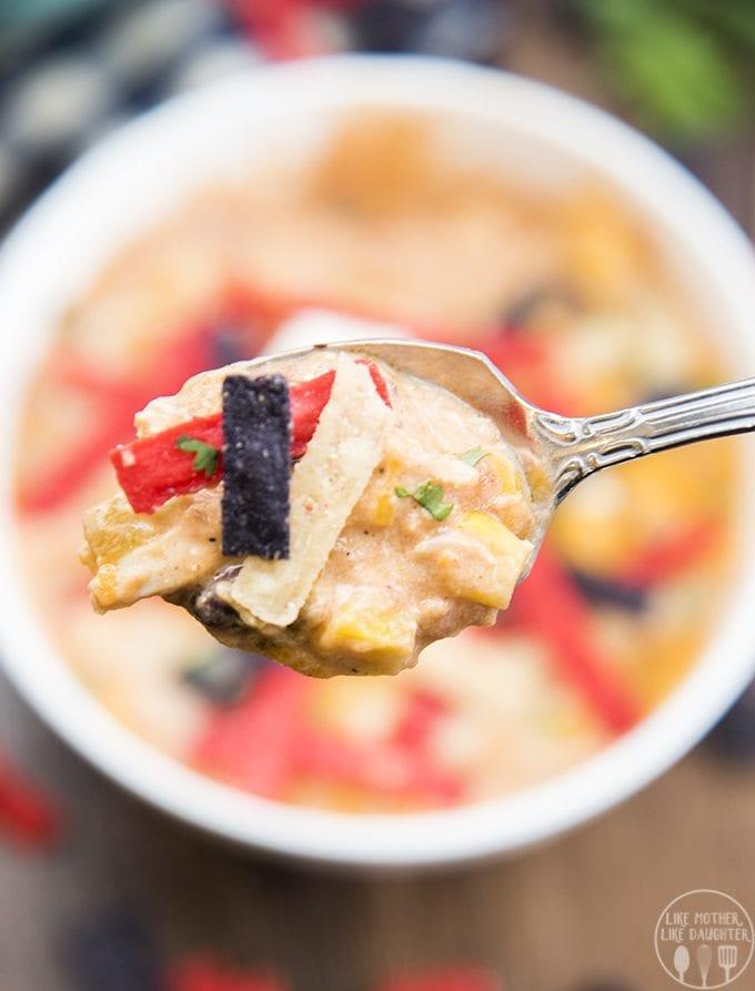 Creamy Chicken Enchilada Soup Recipe