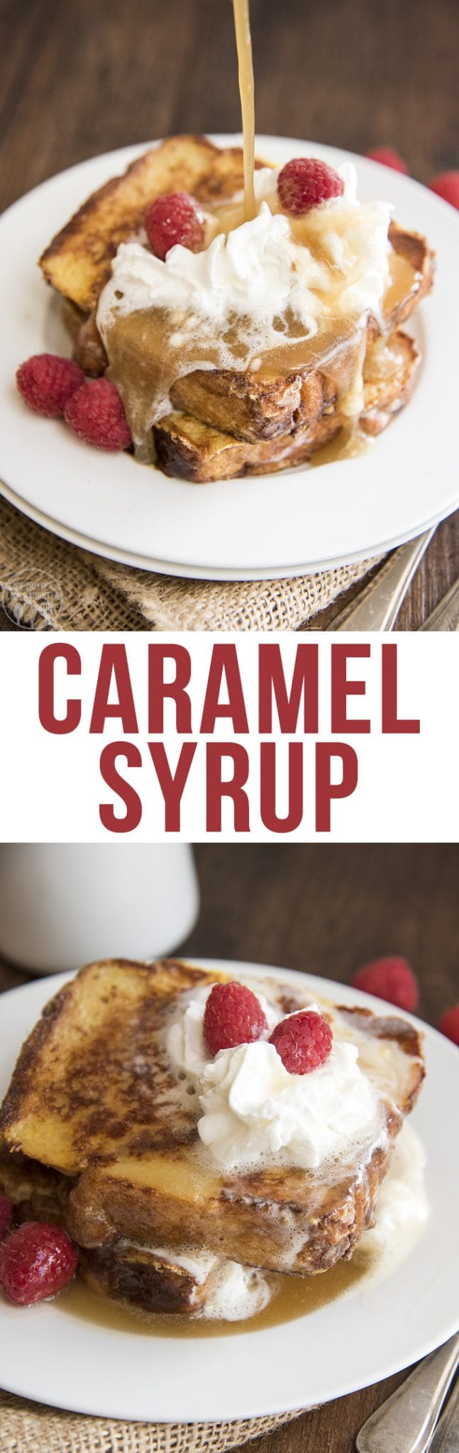 This caramel syrup is the best syrup to serve all over french toast, pancakes or waffles. Its so good, you'll be licking your plate clean!