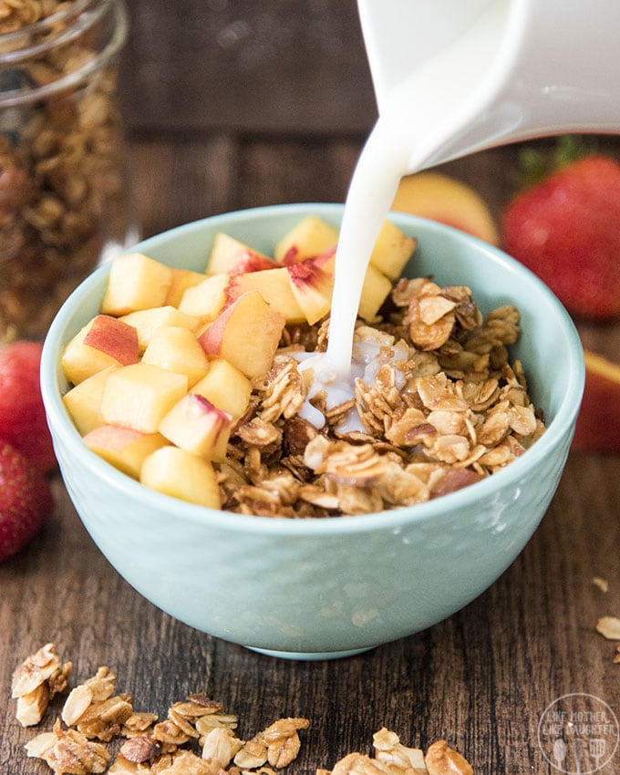 Coconut almond granola is a perfect breakfast or snack! Its delicious sweet, crunchy granola, bursting full of flavor.