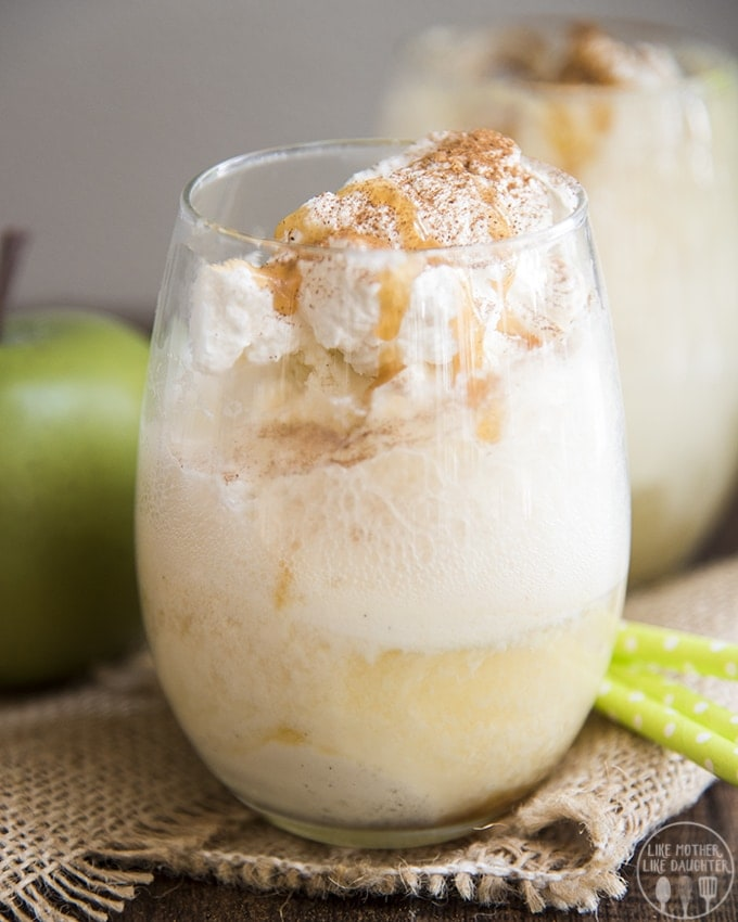Caramel Apple Cider Floats are the perfect combination of sparkling apple cider and vanilla ice cream, topped with caramel syrup, and a dollop of whipped cream, and you have the perfect drink!