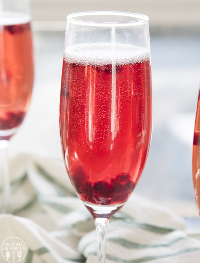 This Pomegranate mocktail recipe is a delicious sparkling drink that is perfect for the holidays!