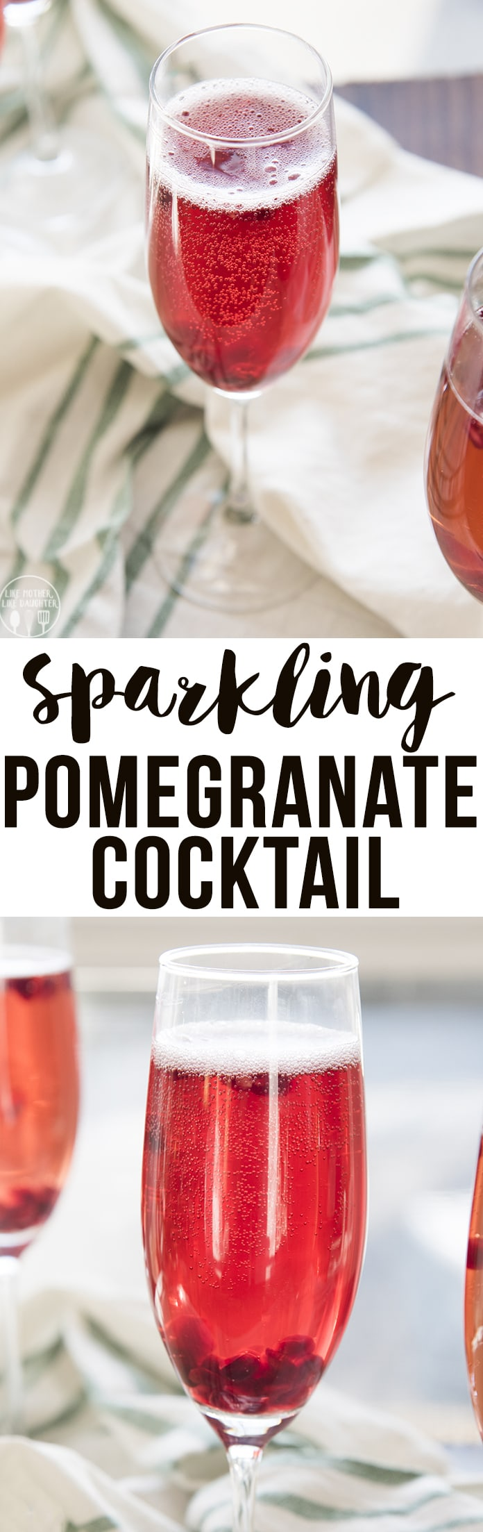 Pomegranate cocktail is a delicious sparkling drink that is perfect for the holidays!