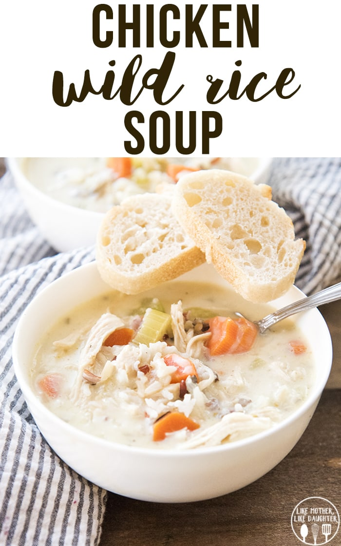 Chicken Wild Rice Soup is a creamy flavorful soup, packed full of carrots, celery, onion, shredded chicken, and a wild rice mix.
